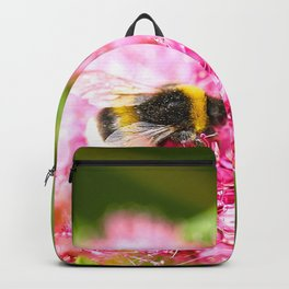 Busy Bee Bzzzzzzz On A Pink Flower #decor #society6 #buyart Backpack