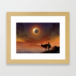 Greek Warrior Watches for Ships Framed Art Print