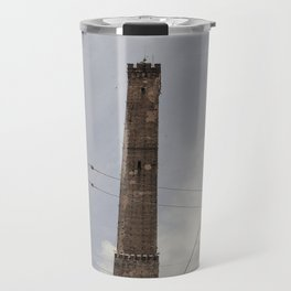 Two Towers, Bologna, Emilia Romagna, Italy, street photography, Torre degli Asinelli, italian city Travel Mug