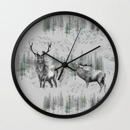 Highland Deer Wall Clock