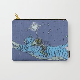 Space Cat With Rider Carry-All Pouch