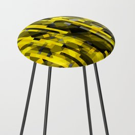 abstract composition in yellow and grays Counter Stool