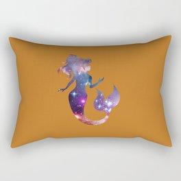 Galaxy Mermaid (Tan) Rectangular Pillow