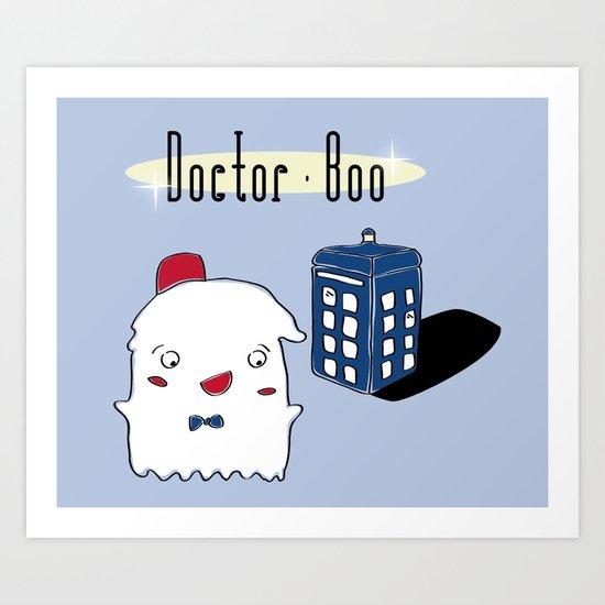 Doctor Boo Art Print