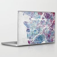 vancouver Laptop & iPad Skins featuring Vancouver map by MapMapMaps.Watercolors