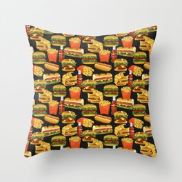 Fast Food Throw Pillow