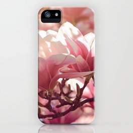 Pink Magnolias in the Spring iPhone Case