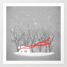 The Red Scarf Art Print