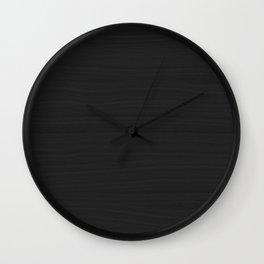 Onyx Black, Charcoal Gray Brushstroke Texture Wall Clock
