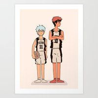 kuroko Art Prints featuring SEIRIN DUO by Emi Monserrate