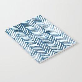 Boho Blue Shibori Tribal Pattern Notebook