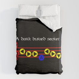 A Dark Buried Secret - Nocturne Of Shadow (The Legend Of Zelda: Ocarina Of Time) Duvet Cover