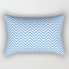 Blue Chevron Rectangular Pillow