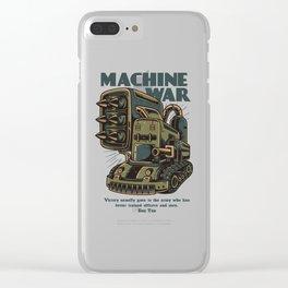 Steampunk Machine War Clear iPhone Case