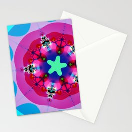 Fractal Design - Stars And Circles Stationery Cards
