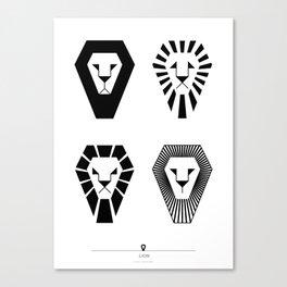 animal PICTOGRAMS vol. 3 - LIONS Canvas Print