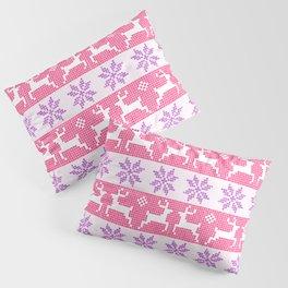 Watercolour Fair Isle in Pink & Purple Pillow Sham