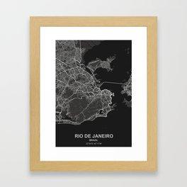 Rio de Janeiro dark Framed Art Print