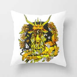 Autumn Baphomet Throw Pillow