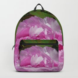 Pink Peony with Rain Drops Backpack