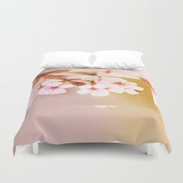 Blooming fairy cherry tree Duvet Cover