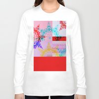 glitch Long Sleeve T-shirts featuring Glitch  by Laina Catherine