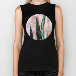 Plant circles & triangles Biker Tank