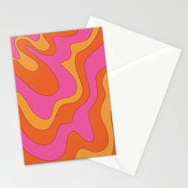 Groovy 60's and 70's Retro Pattern Stationery Cards