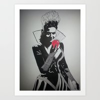 evil queen Art Prints featuring Evil Queen by badashh