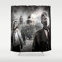 zombies Shower Curtains featuring Zombies by Joe Roberts