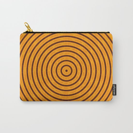 Circles within - Orange Carry-All Pouch