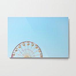 Carnival Wheel Metal Print