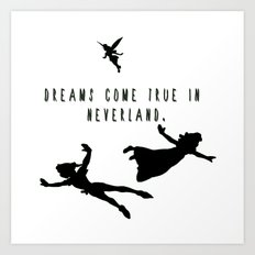 Dreams Come True In Neverland. Art Print