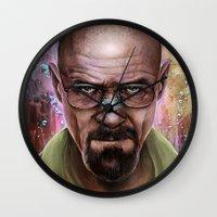 heisenberg Wall Clocks featuring Heisenberg by Isabella Morawetz