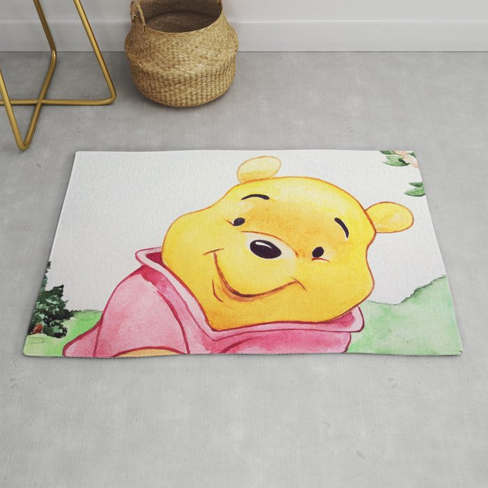 Winnie The Pooh Watercolor Rug By Lubaost