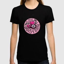 Skribbles: Love every minute (pink) T-shirt
