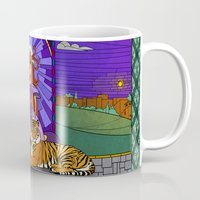 stained glass Mugs featuring Stained glass by Rafapasta