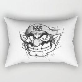 Wario Handmade Drawing, Games Art, Super Mario, Nintendo Art Rectangular Pillow