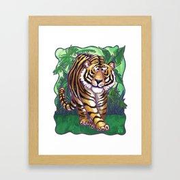 Animal Parade Tiger Framed Art Print