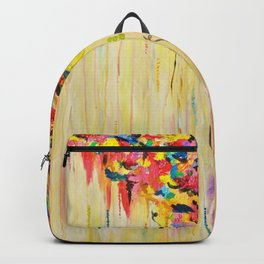OPPOSITES LOVE Raining Sunshine - Bold Bright Sunny Colorful Rain Storm Abstract Acrylic Painting Backpack