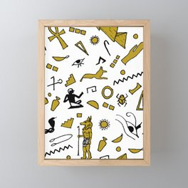 Egyptian Mini Hieroglyphics Framed Mini Art Print