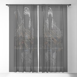 Geralt of Rivia - The Witcher Sheer Curtain