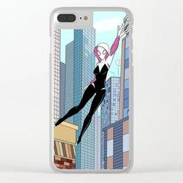 Spider  Gwen Clear iPhone Case