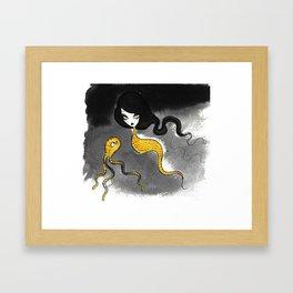 Golden Scales Framed Art Print