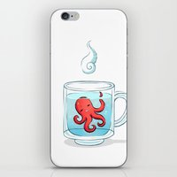 tea iPhone & iPod Skins featuring Octopus Tea by Freeminds
