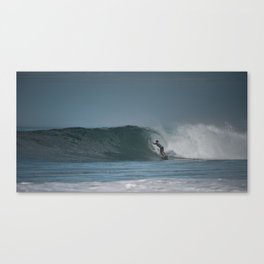 Pro Surfer in the pipe Canvas Print