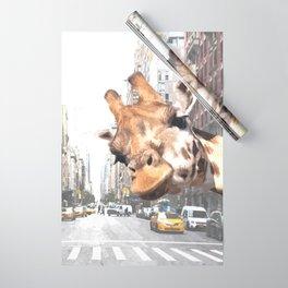 Selfie Giraffe in New York Wrapping Paper