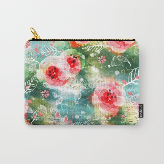 Abstract painting nature and geometric Carry-All Pouch