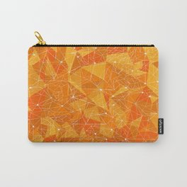 Orange triangles Carry-All Pouch