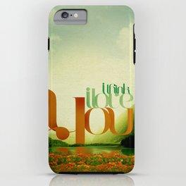 I Think I Love You iPhone Case